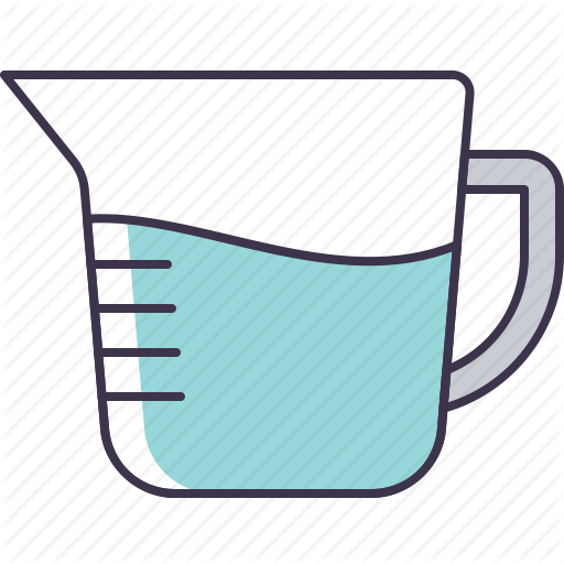 Cup, Glass, Measuring, Utensil, Water Icon