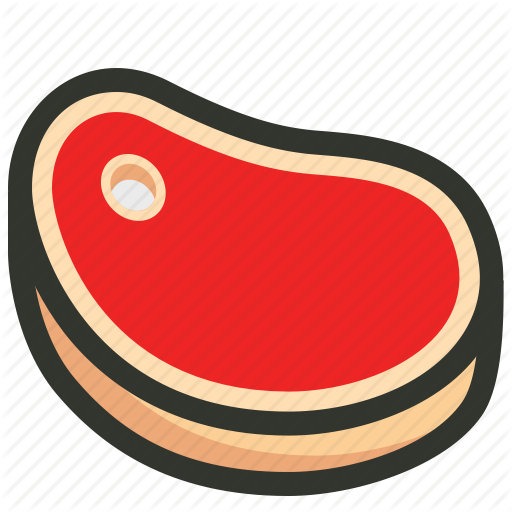 Beef, Flesh, Meat, Red Meat, Steak Icon