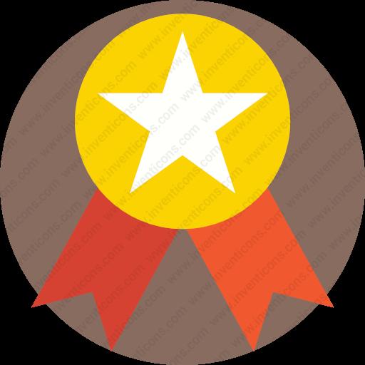 Download Medal,reward,star,award,gold Icon Inventicons