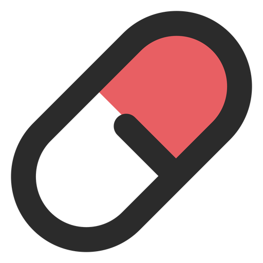 Medical Pill Colored Stroke Icon