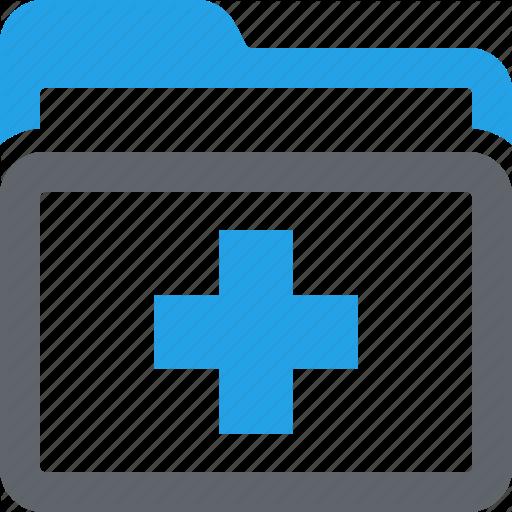 Folder, Medical Files, Medical Records Icon