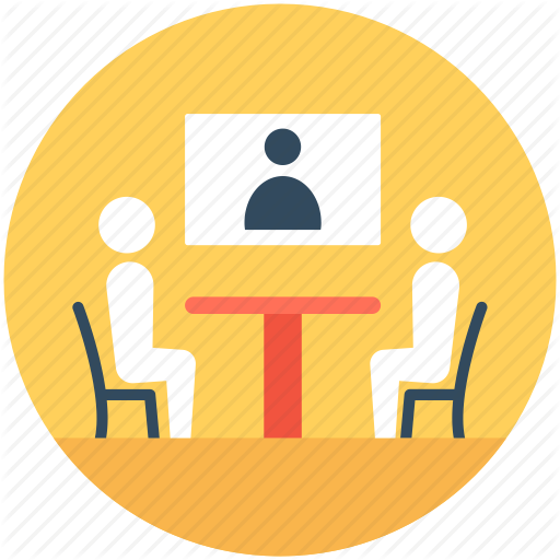 Group Meeting, Meeting, People, Video Conference, Video Meeting Icon