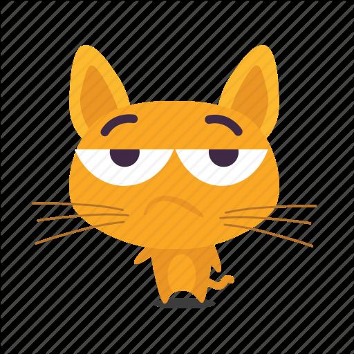 Cat, Emoji, Meh Icon
