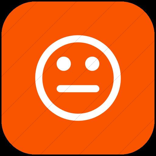 Flat Rounded Square White On Orange Bootstrap Font