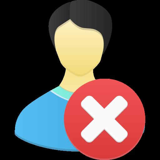 Male User Remove Icon Flatastic Iconset Custom Icon Design