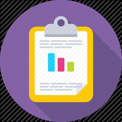 Bar Graph, Business Graph, Clipboard, Graph Report, Memo Icon