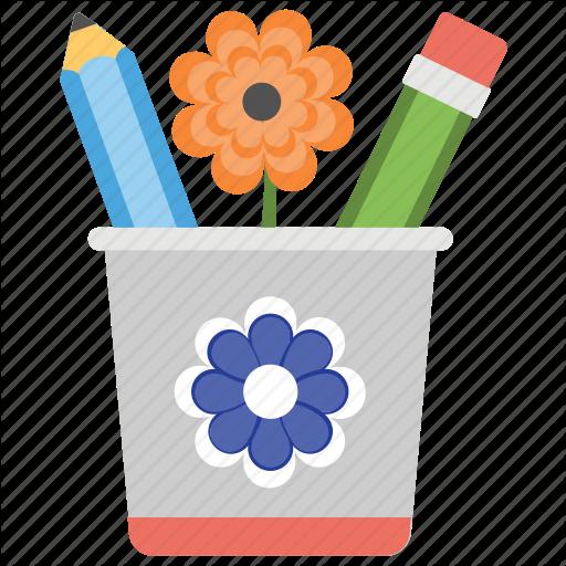 Bucket, Confederate Memorial Day, Flower, Pencil Container