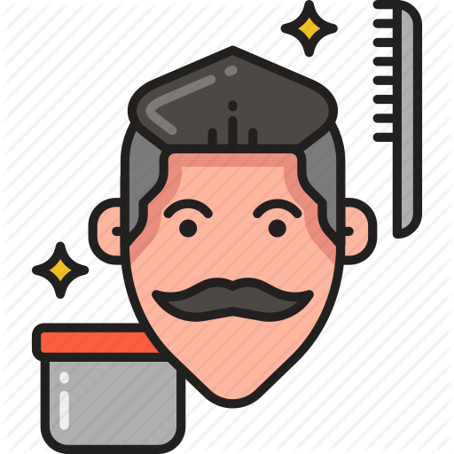 Comb, Grooming, Hair, Hairstyle, Male, Pomade, Wax Icon