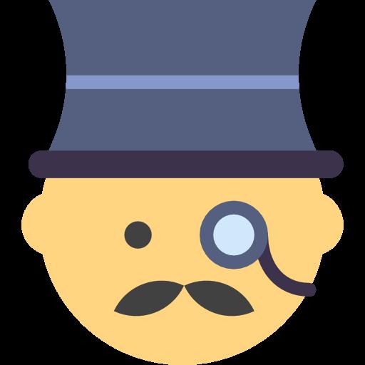 Man, Moustache, Elegant, People, Male, Tall Hat, Emoticon, Men