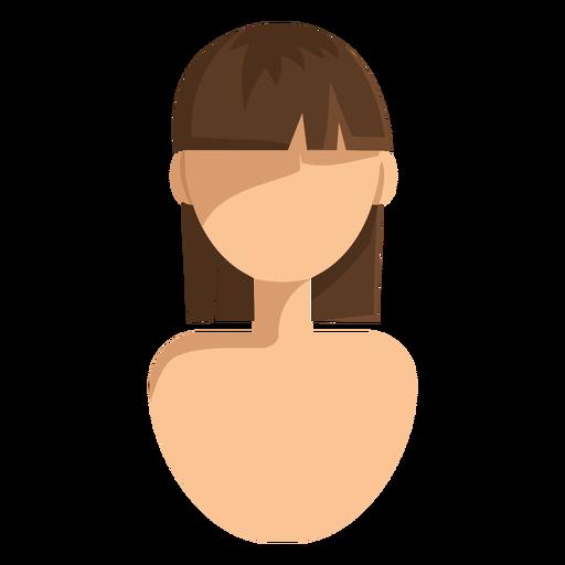 Short Straight Cut Hair Icon