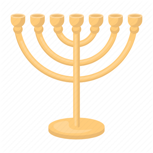 Attribute, Faith, Judaism, Menorah, Prayer, Religion, Silhouette Icon