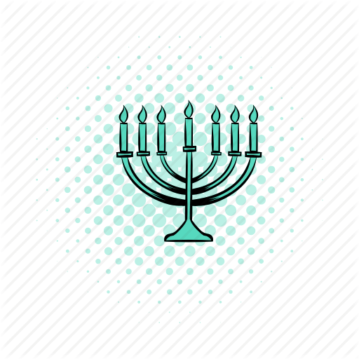 Candlestick, Celebration, Comics, Hanukkah, Israel, Light, Menorah