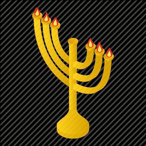 Candlestick, Chanukah, Isometric, Jewish, Menora, Menorah