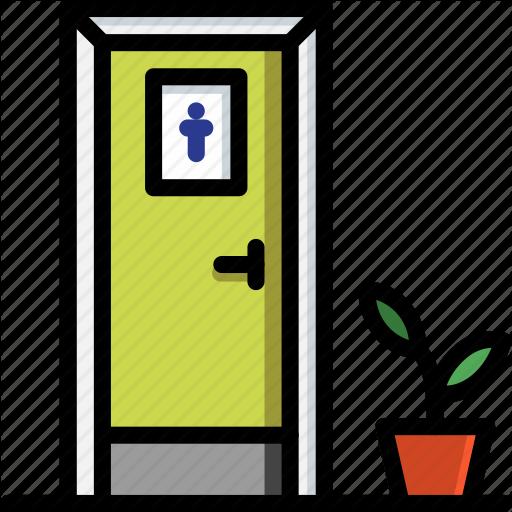 Bathroom, Color, Door, Mens, Objects, Toilet, Ultra Icon