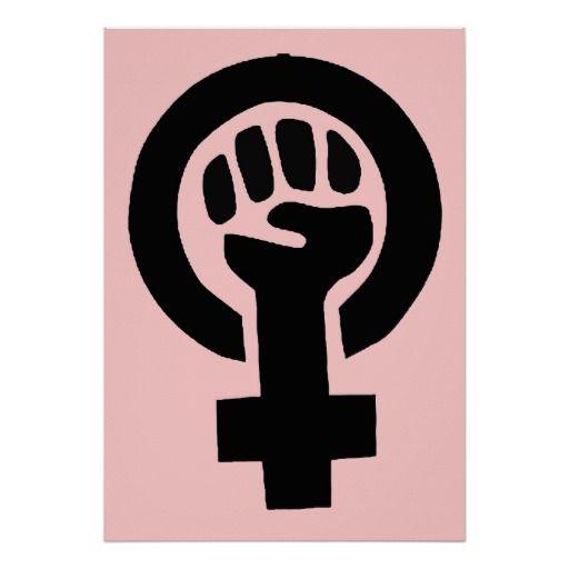 Feminist Woman Gender Equality Symbol Poster
