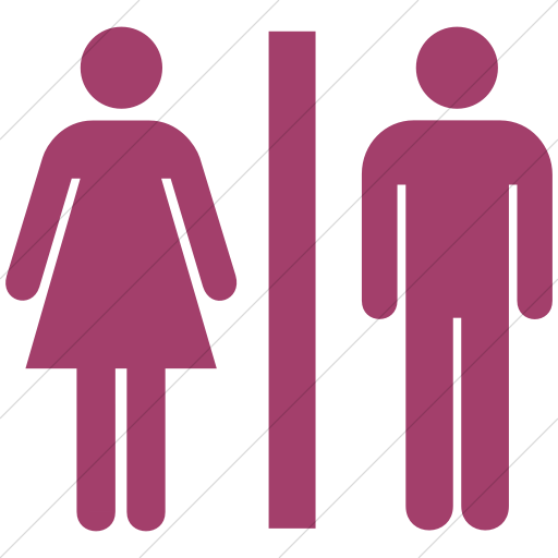 Simple Pink Aiga Toilets Icon