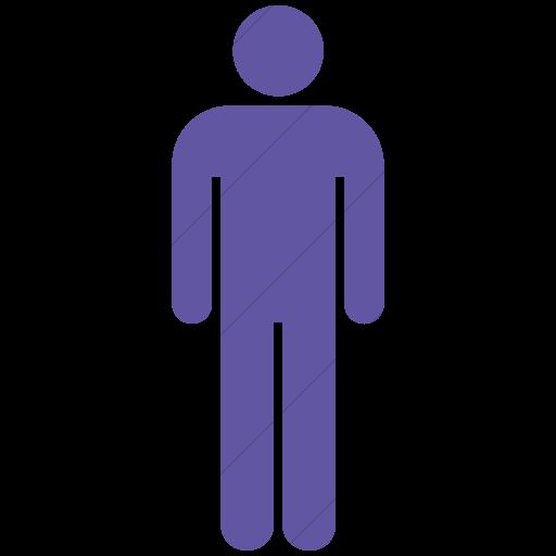 Simple Purple Aiga Toilets Men Icon