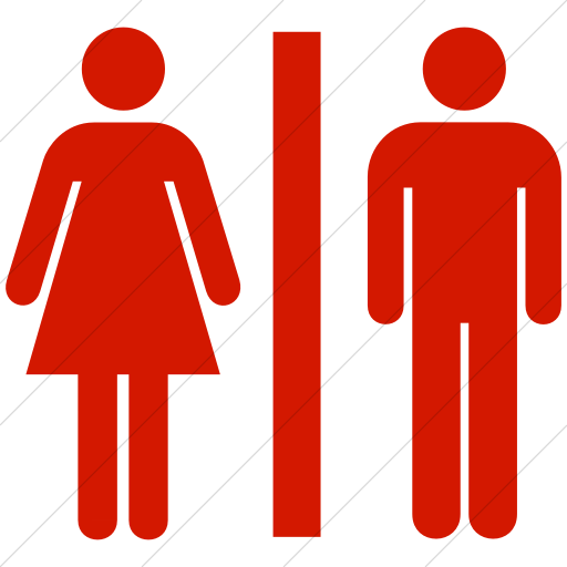 Simple Red Aiga Toilets Icon