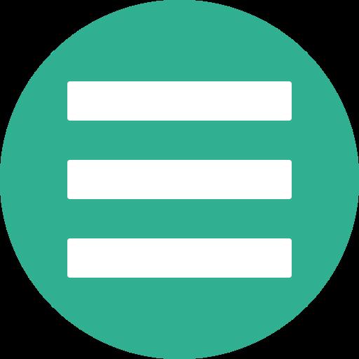 Green, Hamburger, List, Menu, Navigation, Stack Icon