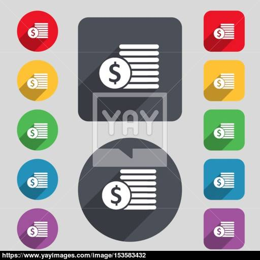 Buyer Menu Icon Sign A Set Of Colored Buttons And A Long