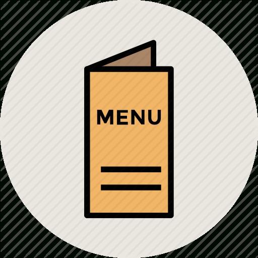 Restaurant Menu Black Simple Icon Royalty Free Vector Image