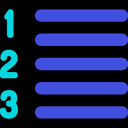 List, Text, Menu Icon