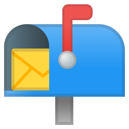 Open Mailbox With Raised Flag Icon Noto Emoji Objects Iconset