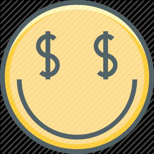 Currency, Dollar, Emoji, Emotion, Mercenary, Money, Smiley Icon
