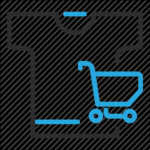 Cart, Ecommerce, Merchandise, Shopping, Tshirt Icon