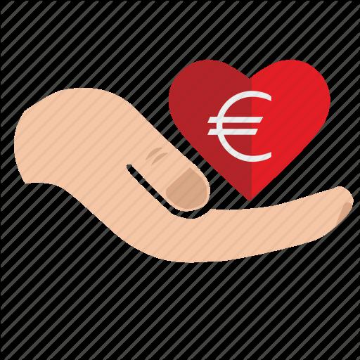 Add, Charity, Donate, Euro, Heart, Mercy, Money Icon