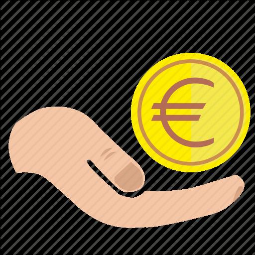 Charity, Donate, Euro, Hand, Mercy, Money Icon