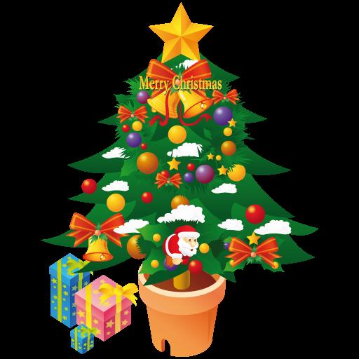 Merry Christmas Tree Icon Iconshow