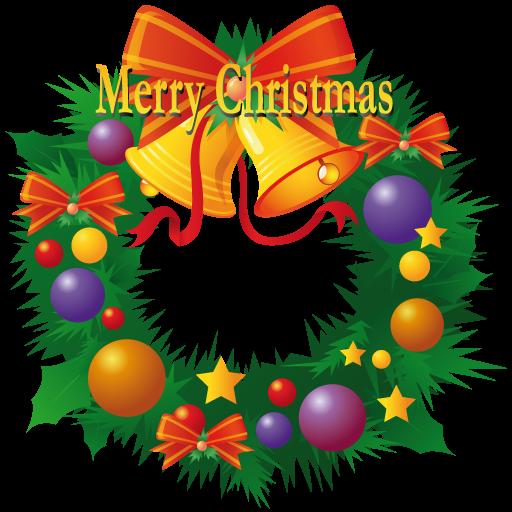 Merry Christmas Wreath Icon Iconshow