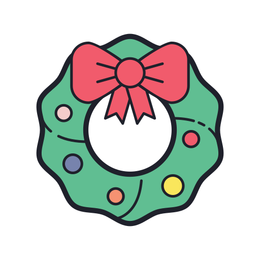 Christmas, Wreath Icon Free Of Merry Holidays