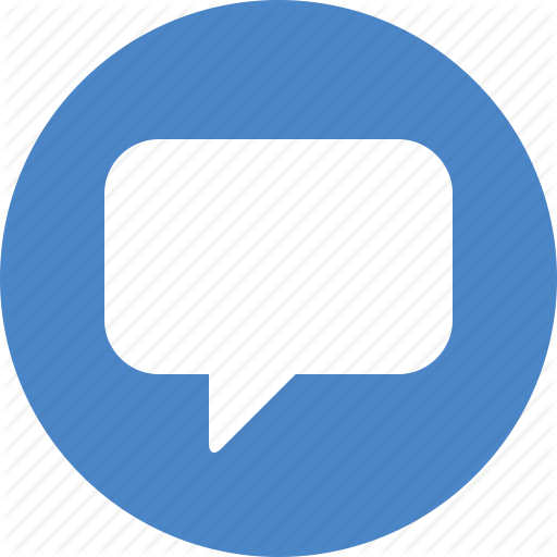 Blue, Chat, Chatting, Circle, Comment, Message, Messaging Icon