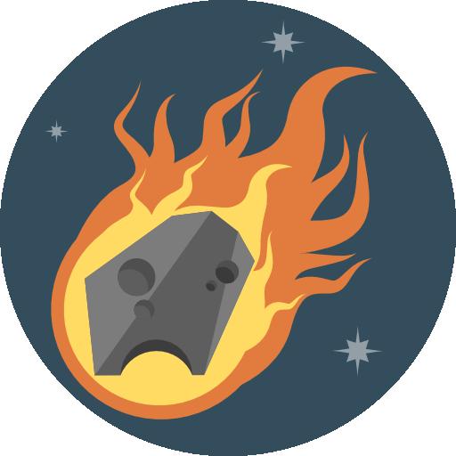 Meteor Icon Flat Iconset Flat