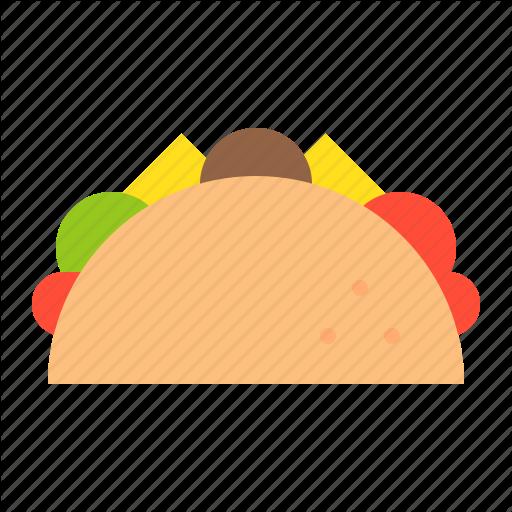 Cuisine, Food, Meal, Menu, Mexican Food, Taco Icon
