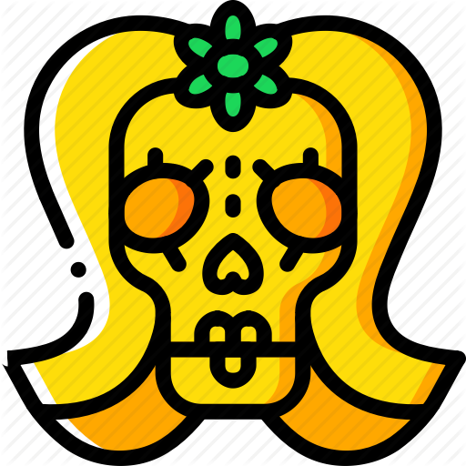 Day Of The Dead, Dead, Lady, Mexican, Mex Skull, Tradition Icon