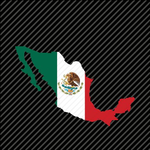 Flag, Map, Mex World Icon