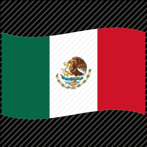Green, Mexican Flag, Mex Mx, Red, Waving Flag, White Icon