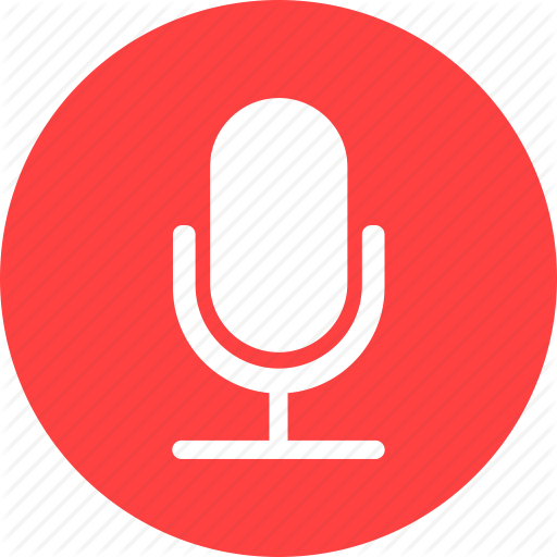 Circle, Mic, Microphone, Recording, Red, Speaker Icon