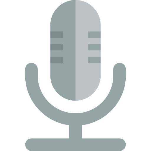 Microphone Icon Small Flat Iconset Paomedia