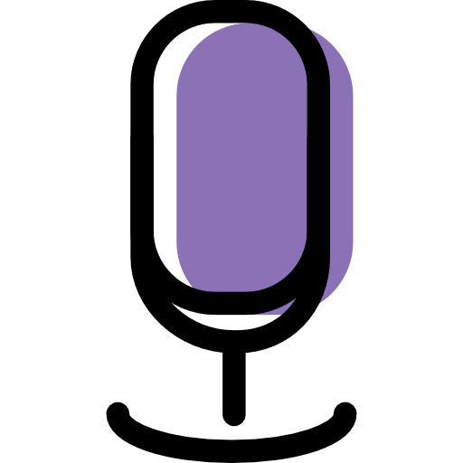 Microphone, Purple Icon Free Of Color Desktops And Gadgets