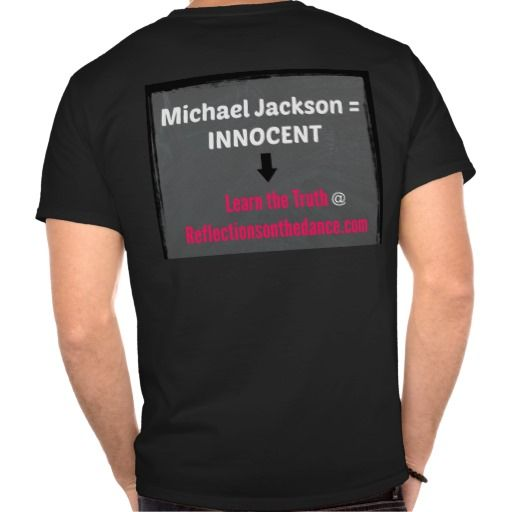 Men's Mj Is Innocent Black T Shirt Reflectionsstore Mj