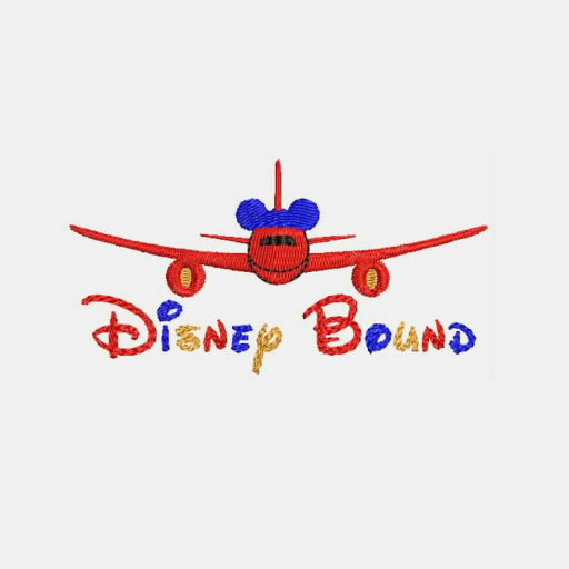 Disney Bound Airplane With Mickey Mouse Machine Embroidery Designs