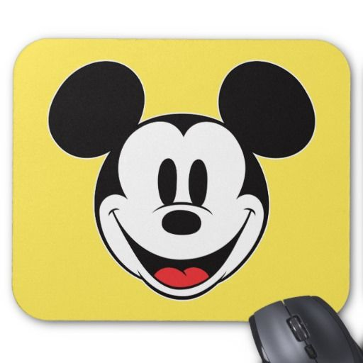 Mickey Mouse Smiling Mouse Pad Save Your Money, Shopping And We