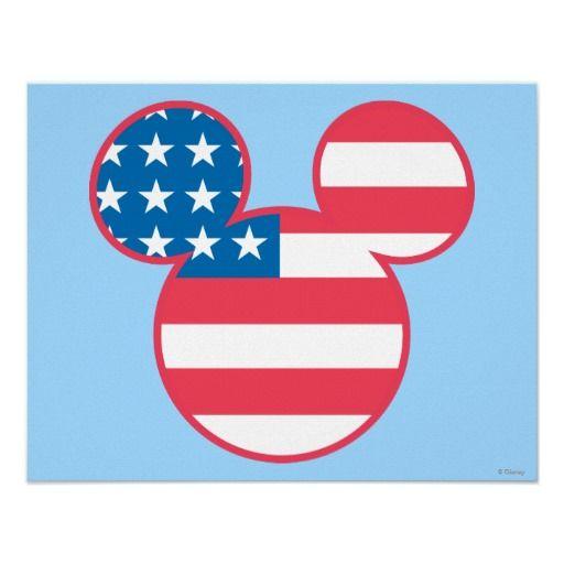 Mickey Mouse Usa Flag Icon I Disney Mickey