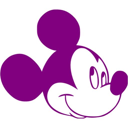 Purple Mickey Mouse Purple Mickey Mouse Icon