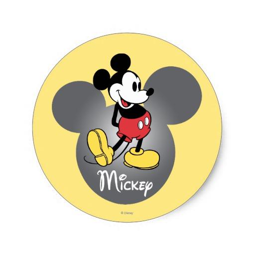 Snap Pluto Mickey Head Icon Classic Round Sticker Zazzle Photos