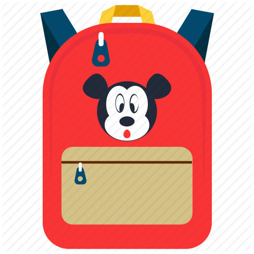 Backpack, Cartoon Print Backpack, Mickey Mouse Bag, Playgroup Bag